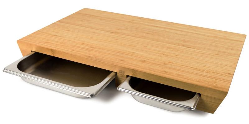 cleenbo Holz Schneidebrett Bambus style duo