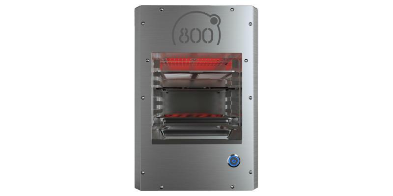 Oberhitze eines 800 °C Elektrogrills