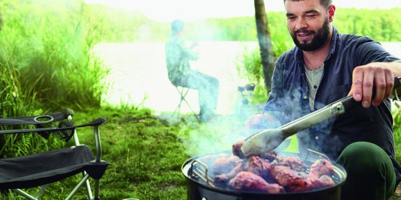 Weber Smoker Smokey Mountain Cooker für untwegs, den Garten und Terrasse
