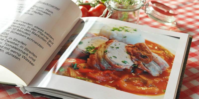 Rezepte aus einem Grillbuch