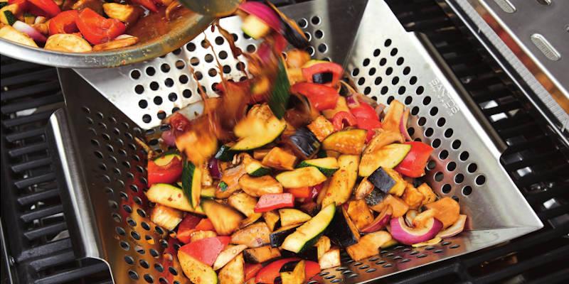 Grillgemüse vom Grill aus einem SANTOS Grillkorb